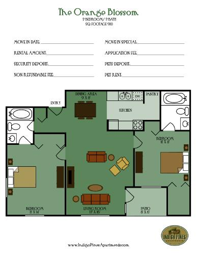 Value Is Evident In Our Apartment Homes The Split Bedroom Floorplan Great For All Households And Each Bathroom Off